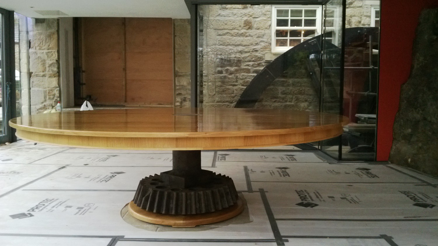 Table-Mill-table-D-in-place-with-mill-wheel-in-back